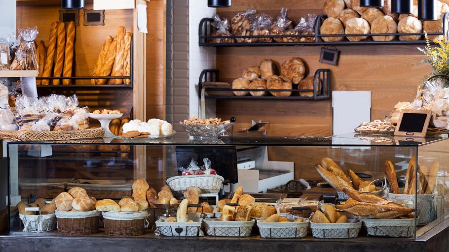 Comptoir d'une boulangerie
