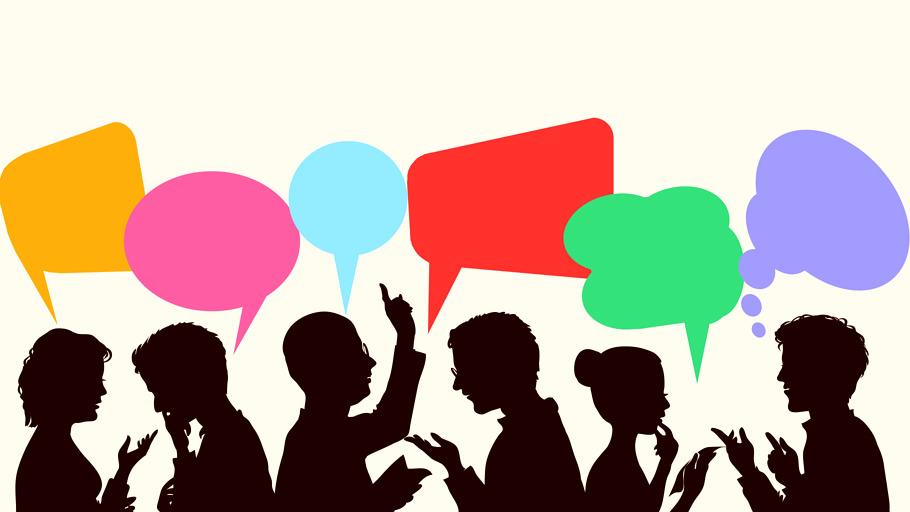 Illustration d'un groupe en plein débat