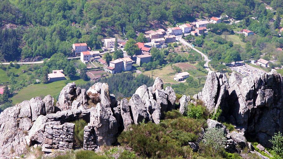 Vue sur Labastide-sur-Besorgues