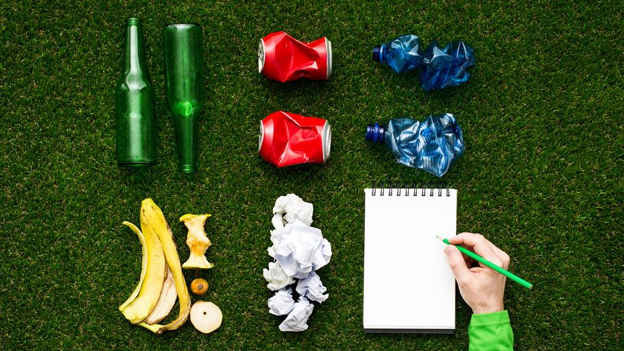 Déchets ménagers triés pour le recyclage