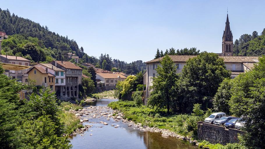 Vue sur Vals-les-Bains