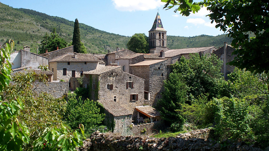 Vue sur le village de Vesseaux