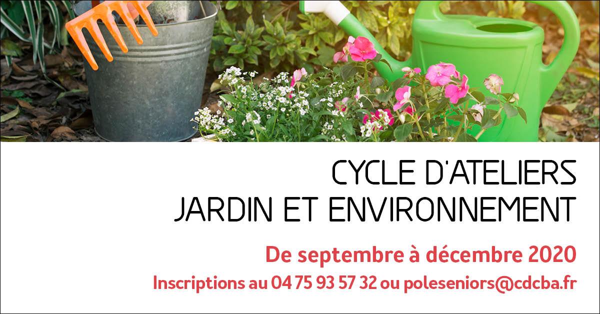 """Visuel pour le cycle d'ateliers """"jardin et environnement"""""""