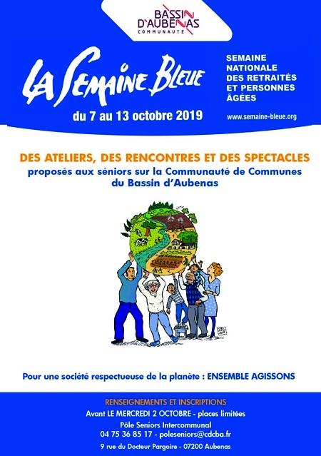 Couverture du programme de la semaine bleue 2019
