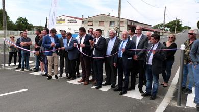 Inauguration de la ZAE Lucien Auzas à Lavilledieu