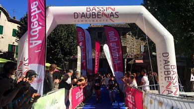 Arche d'arrivée de l'Ardèche Run