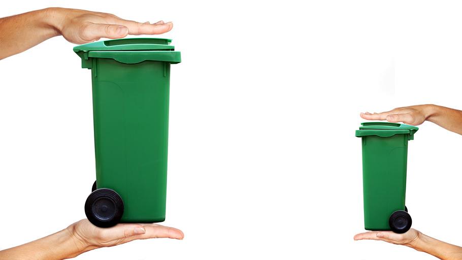 Illustration de la réduction des déchets